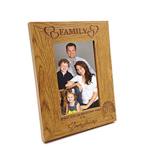 ukgiftstoreonline Family Is Everything Wooden Photo Frame Gift FW299 - ukgiftstoreonline