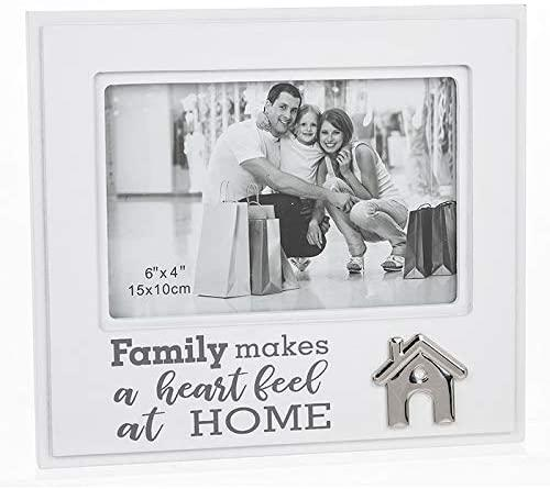 ukgiftstoreonline Family Makes a heart feel at home Photo Frame - ukgiftstoreonline