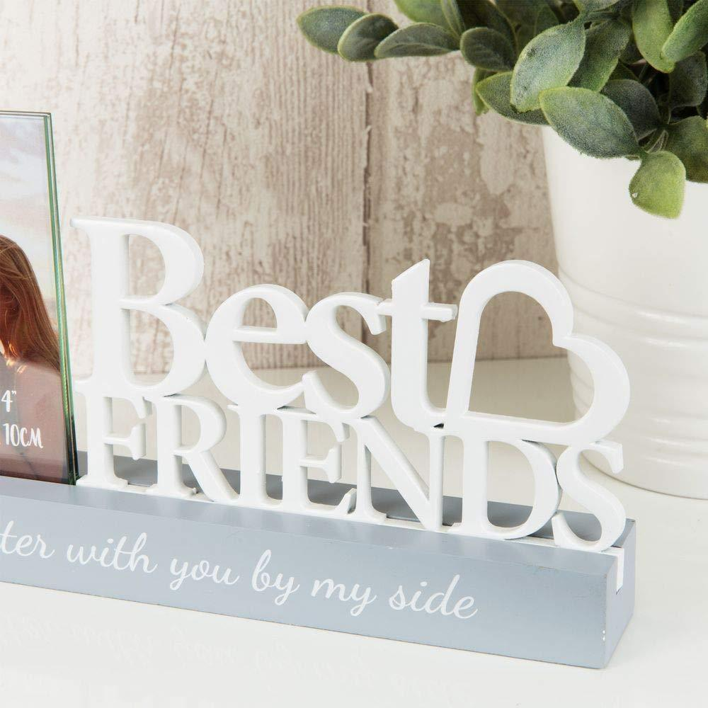 "ukgiftstoreonline FRIENDSHIP PHOTO FRAME - 4"" X 4"" - BEST FRIENDS - ukgiftstoreonline"