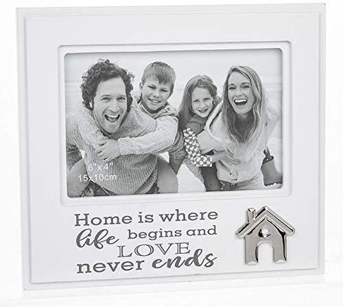 ukgiftstoreonline Home is where life begins and love never ends Photo Frame - ukgiftstoreonline