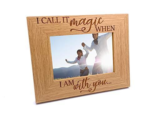 ukgiftstoreonline Love Themed I Call It Magic Engraved Wooden Photo Frame Gift - ukgiftstoreonline