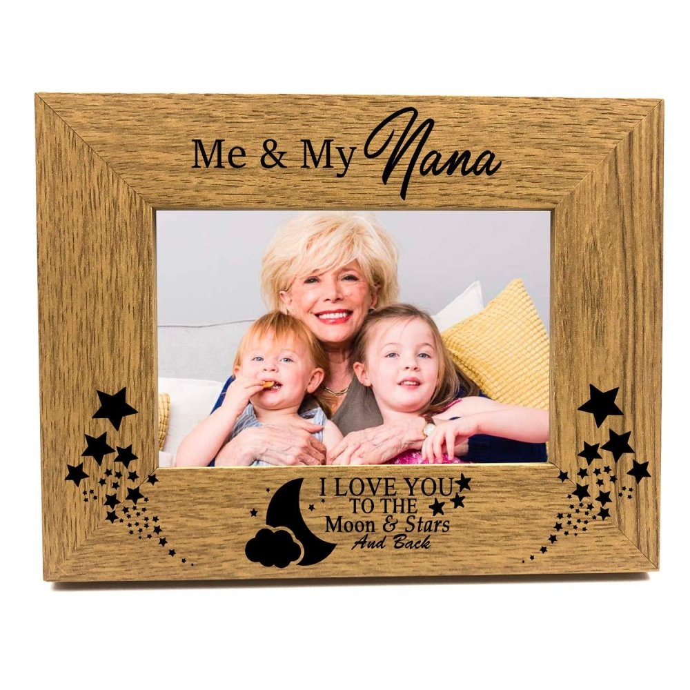 ukgiftstoreonline Me and My Nana Love You To The Moon and Back Photo Frame Gift - ukgiftstoreonline