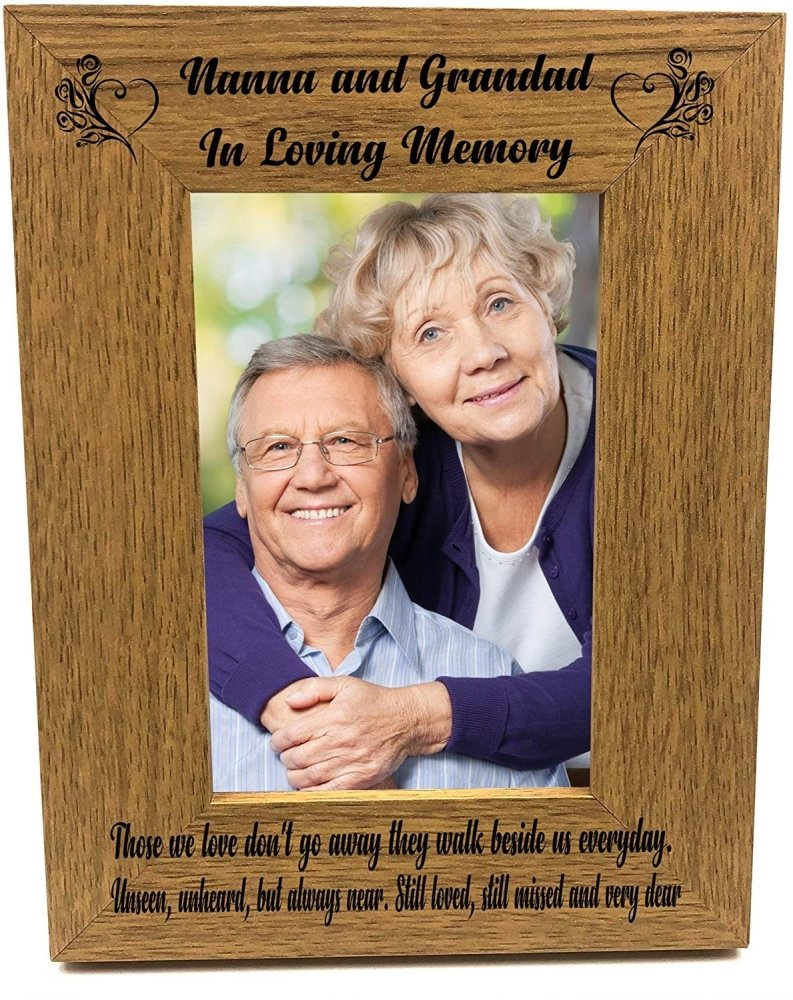 ukgiftstoreonline Nanna and Grandad Memorial Remembrance Photo Frame Portrait - ukgiftstoreonline