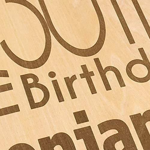 ukgiftstoreonline Personalised 70th Birthday Engraved Large Wooden Scrapbook Photo Album - ukgiftstoreonline