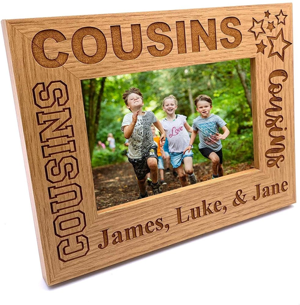 ukgiftstoreonline Personalised Cousins Photo Frame Star Design - ukgiftstoreonline