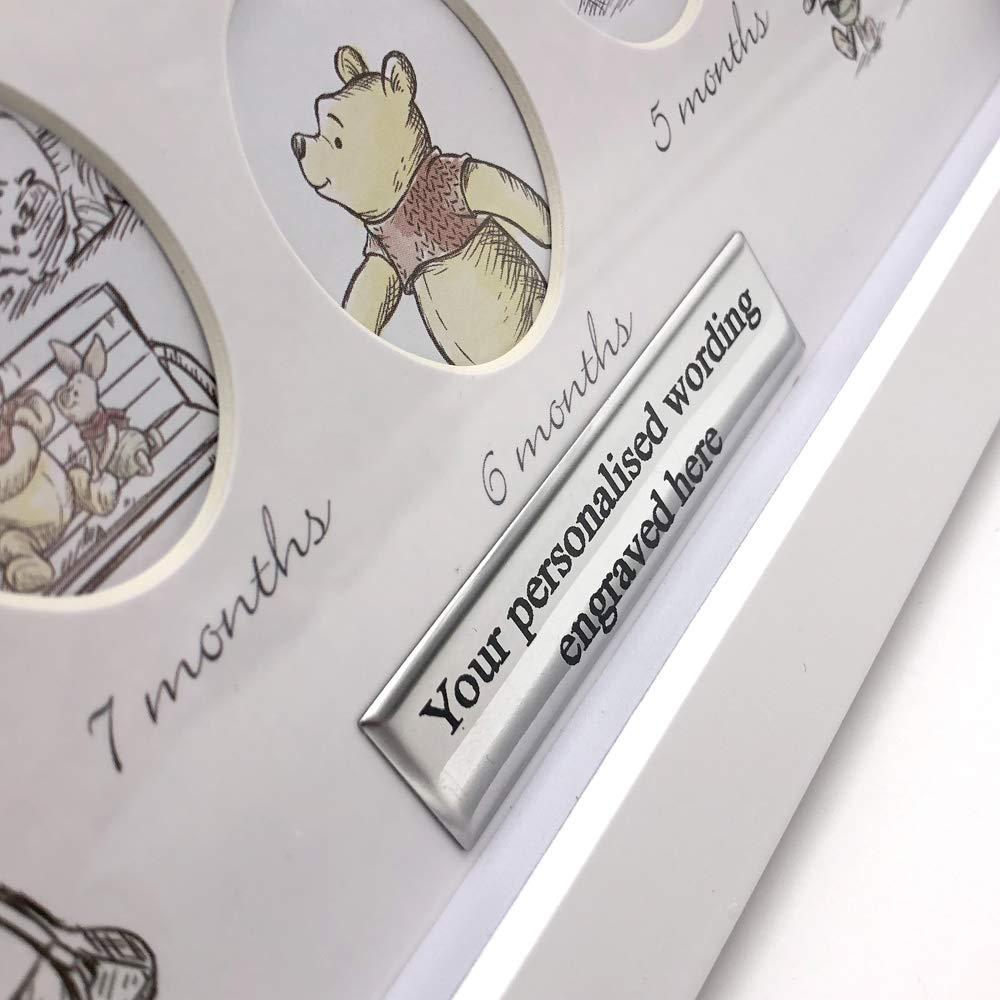 ukgiftstoreonline Personalised Disney Baby Winnie The Pooh 12 Month Photo Frame First Year - ukgiftstoreonline