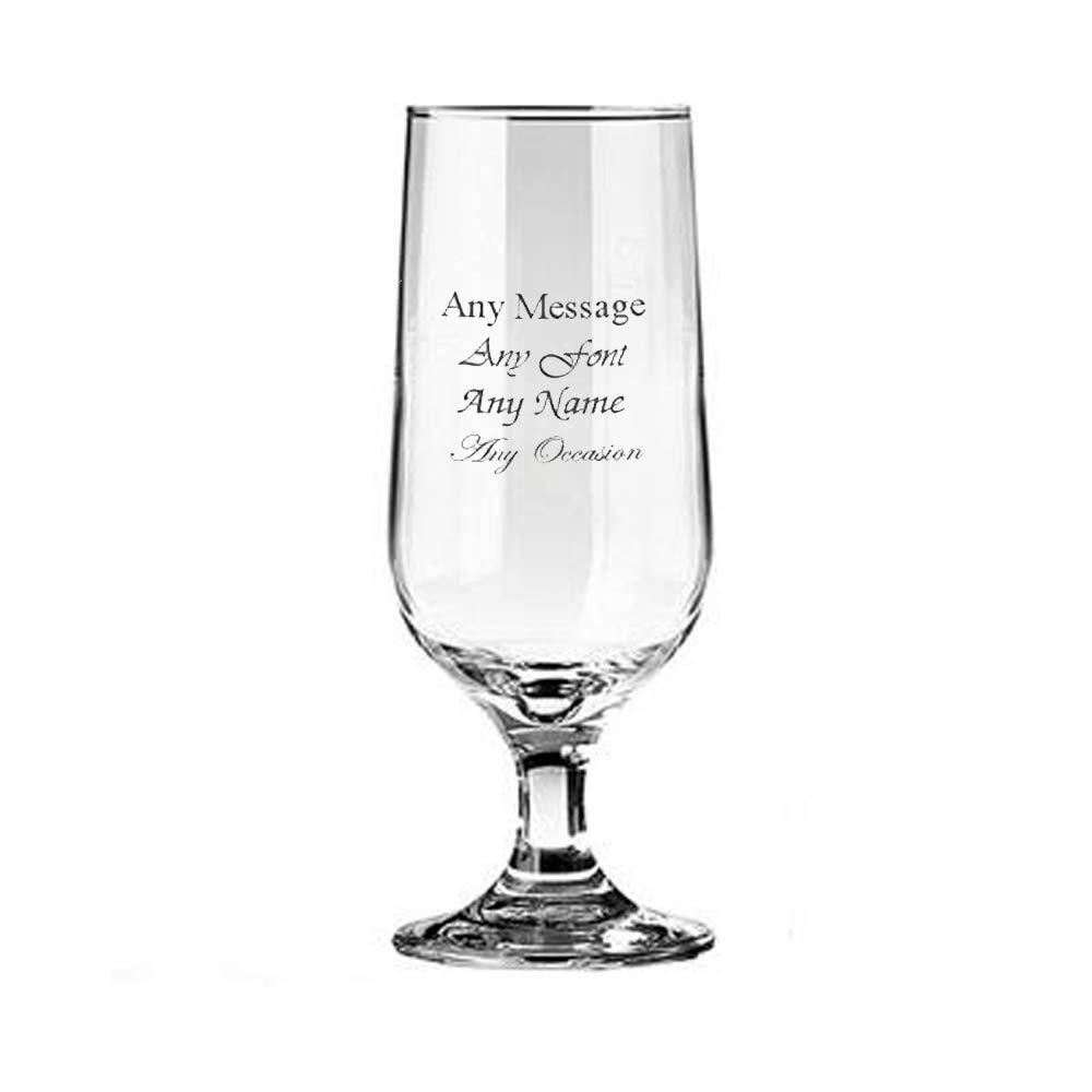 ukgiftstoreonline Personalised Engraved Beer Goblet Wedding Birthday Best Man Usher Godfather - ukgiftstoreonline