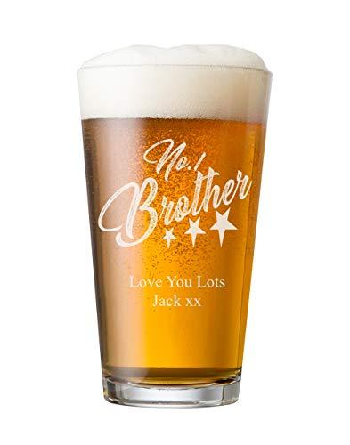 ukgiftstoreonline Personalised Engraved Perfect Beer Pint Brother Gift - ukgiftstoreonline