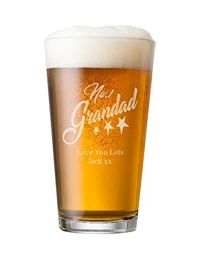 ukgiftstoreonline Personalised Engraved Perfect Beer Pint Grandad Gift - ukgiftstoreonline