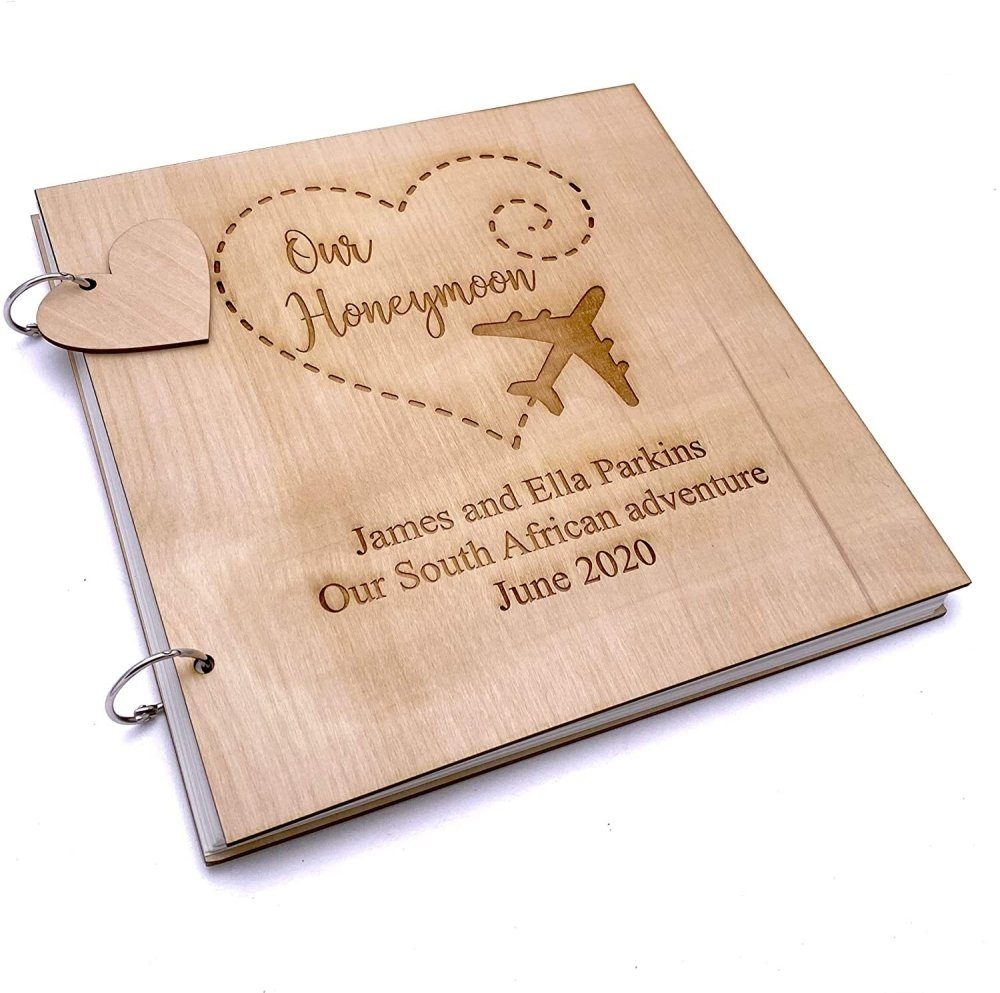 ukgiftstoreonline Personalised Honeymoon Memories Scrapbook Photo Album - ukgiftstoreonline