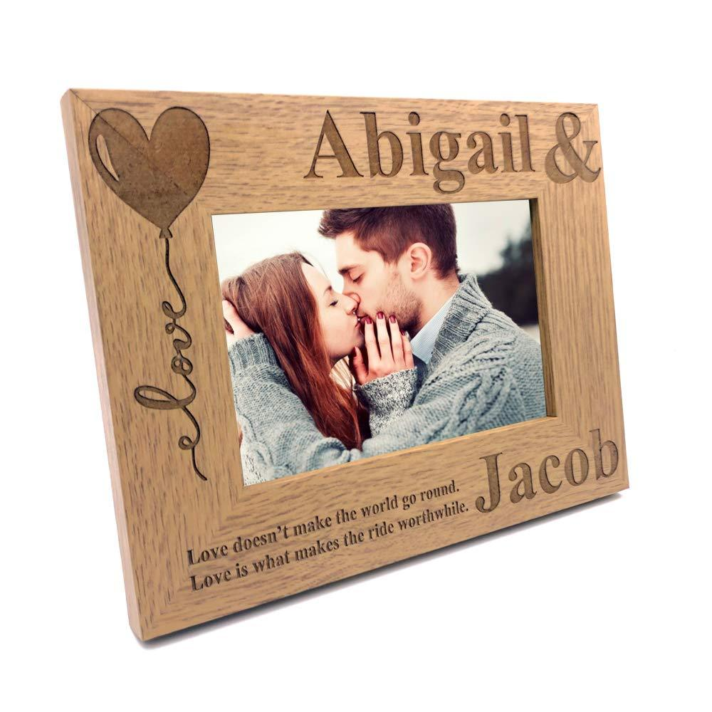 ukgiftstoreonline Personalised Love Couple Photo Frame Gift - ukgiftstoreonline