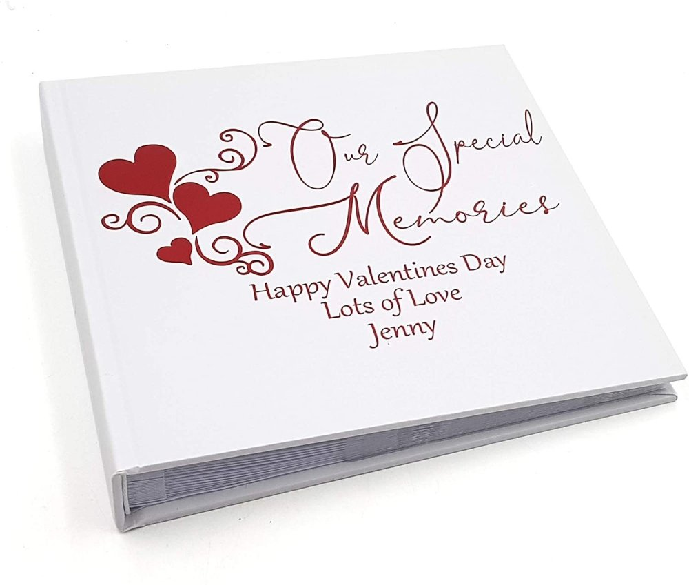 ukgiftstoreonline Personalised Love Themed Photo Album Keepsake Gift Boxed Our Special Memories - ukgiftstoreonline