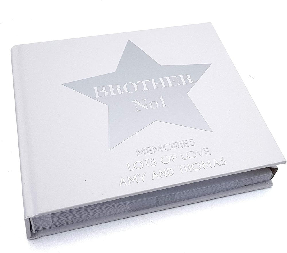 ukgiftstoreonline Personalised Number One Brother Photo Album Gift - ukgiftstoreonline