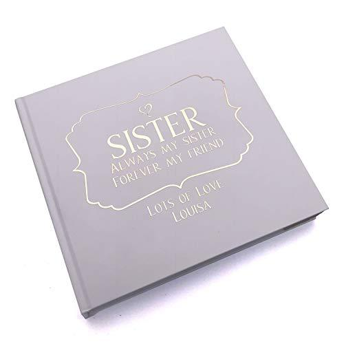 ukgiftstoreonline Personalised sister Photo Album Keepsake Gift Boxed Forever My Friend - ukgiftstoreonline