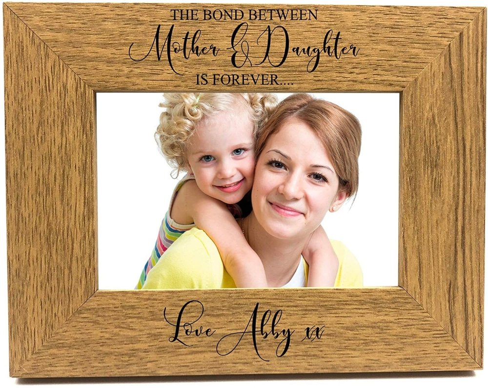 ukgiftstoreonline The Bond Between Mother and Daughter is Forever Personalised Photo Frame FW407 - ukgiftstoreonline