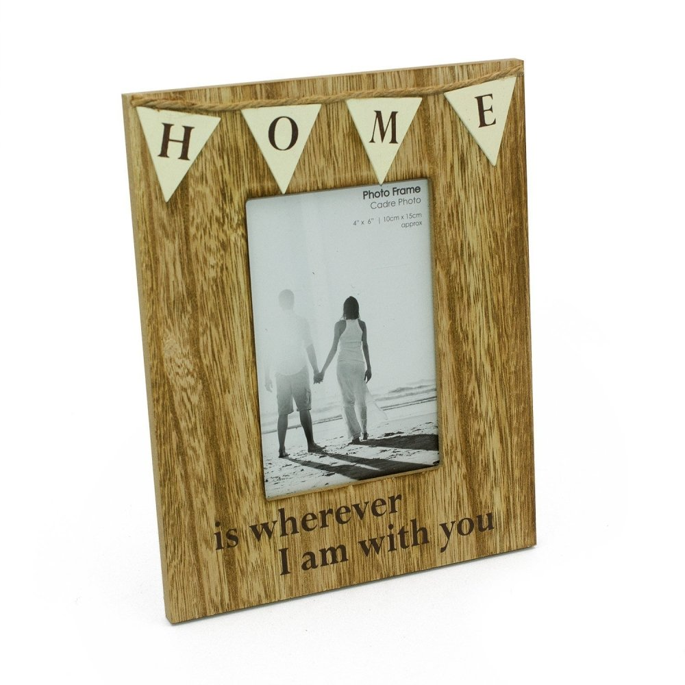 Vintage Rustic Style Home Photo Frame With Bunting - ukgiftstoreonline