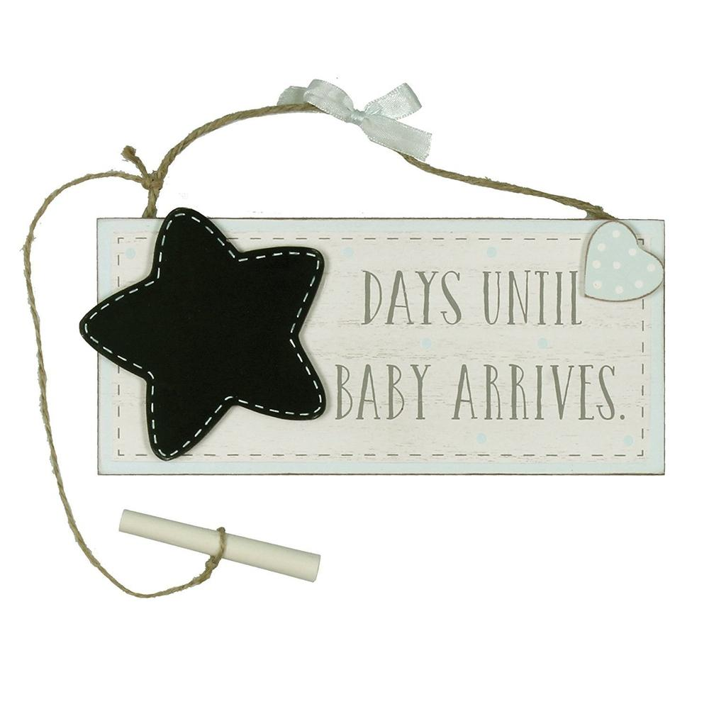 Vintage Style Days Until Our Baby Arrives Blue Boy Chalkboard - ukgiftstoreonline