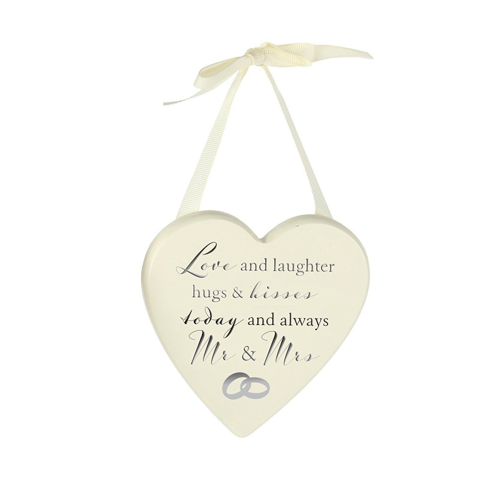 Wedding Gift Love and Laughter Hanging Plaque Decor - ukgiftstoreonline