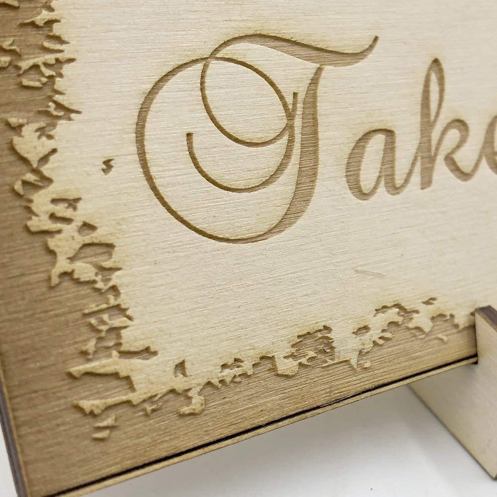 Wooden Wedding signs Plaques, Sweet Table Candy Bar Take a Treat - ukgiftstoreonline