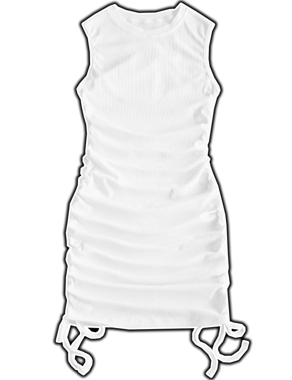 BLANCO - Ribbed Cinched Dress