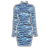 Blue's Clues - High Neck Long Sleeve Dress