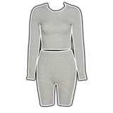 Meredith Grey - Ribbed Knit 2 PC Short Set