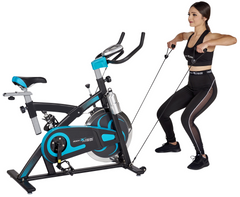 Fitness Exercise Bike, 40lb Flywheel, Resistance Bands - Body Xtreme Fitness