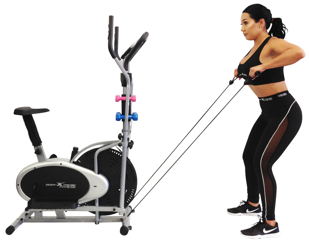 Body Xtreme Fitness 4-in-1 Elliptical Exercise Trainer + Resistance Bands