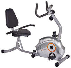 Body Xtreme Fitness Magnetic Recumbent Exercise Bike, Pulse Sensors - Body Xtreme Fitness