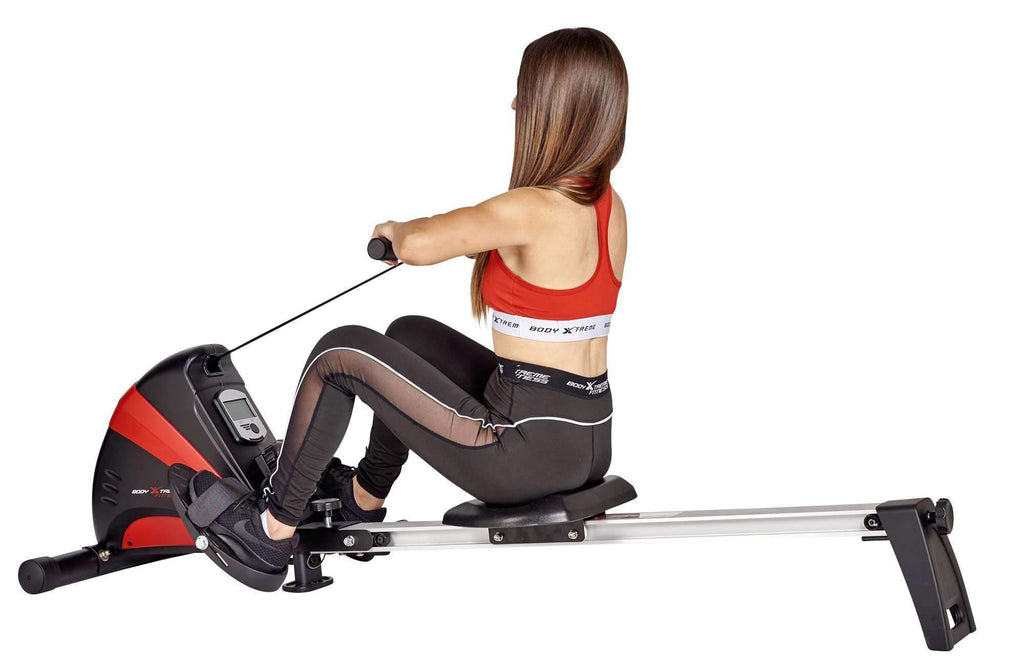 Body Xtreme Fitness Rowing Machine Body Sculpture 1500-S (Black/Red) - Body Xtreme Fitness