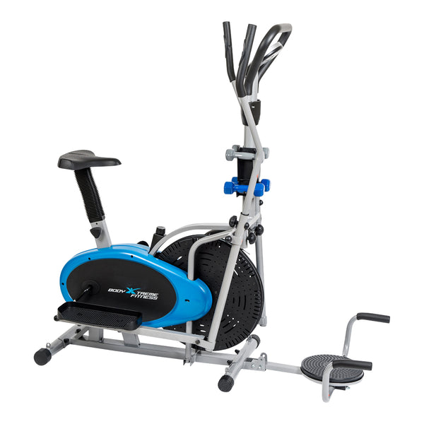 Body Xtreme Fitness 6-in-1 Elliptical Bike + Resistance Bands + Ab Twister + Push Up Bars