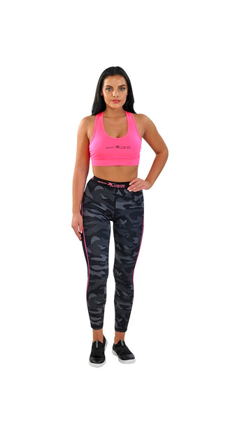 Body Xtreme Fitness Ladies Camo/Pink Sports Bra and Leggings