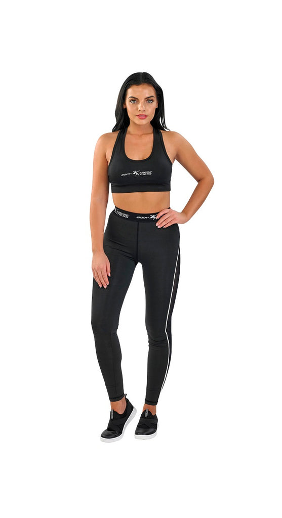 Body Xtreme Fitness Ladies Black Sports Bra and Leggings