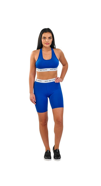 Body Xtreme Fitness Ladies Sports Bra and Shorts (Blue)