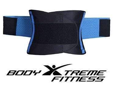 Body Xtreme Fitness Waist Trimmer Belt (Pink & Blue) - Body Xtreme Fitness