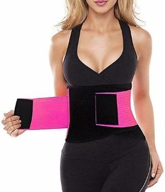 Body Xtreme Fitness Waist Trimmer/Slimming Belt (Pink & Blue)