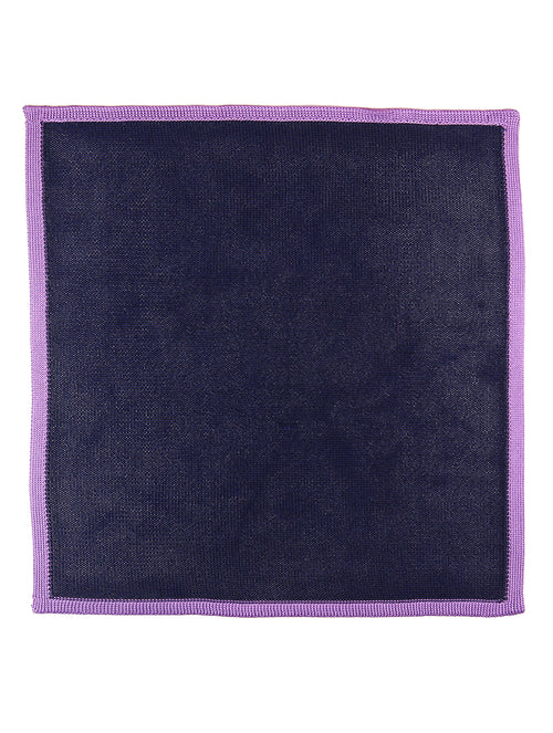 DÉCLIC Classic Knit Hanky - Navy/Purple