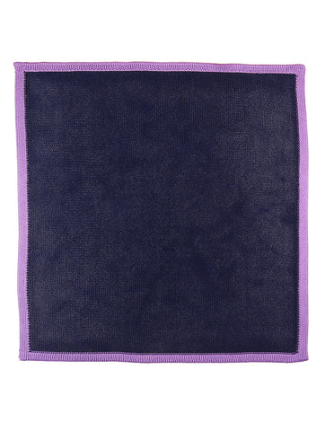 DÉCLIC Dessin Floral Pocket Square -Navy