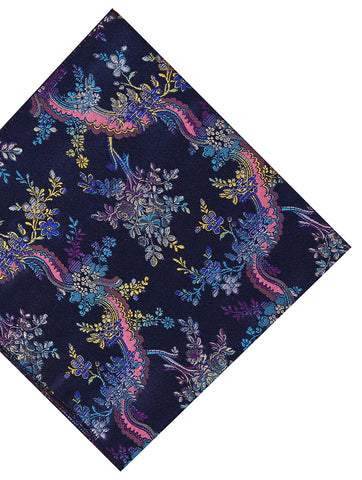 DÉCLIC Eze Floral Pocket Square - Purple