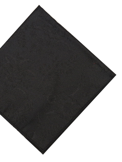 DÉCLIC Kontur Floral Pocket Square - Black