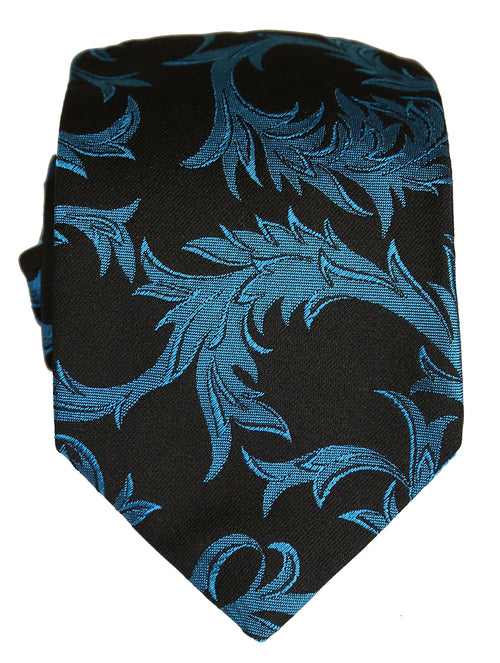 DÉCLIC Baroque Tie - Black/Blue