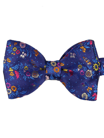 DÉCLIC Bloom Floral Bow Tie - Aqua