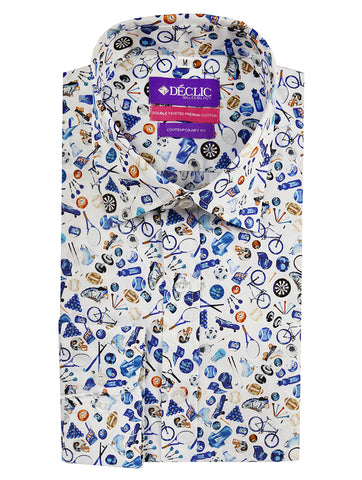 DÉCLIC Animal Soup Print Shirt - Blue