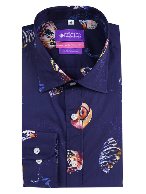 DÉCLIC Sheru Print Shirt - Blue