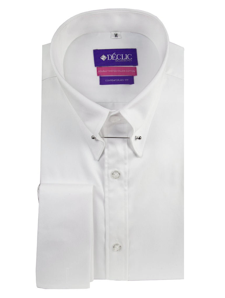 DÉCLIC Sel Pin Collar Shirt - Double Cuff