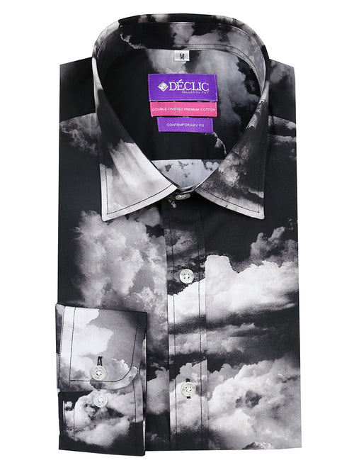 DÉCLIC Kumo Print Shirt - Black