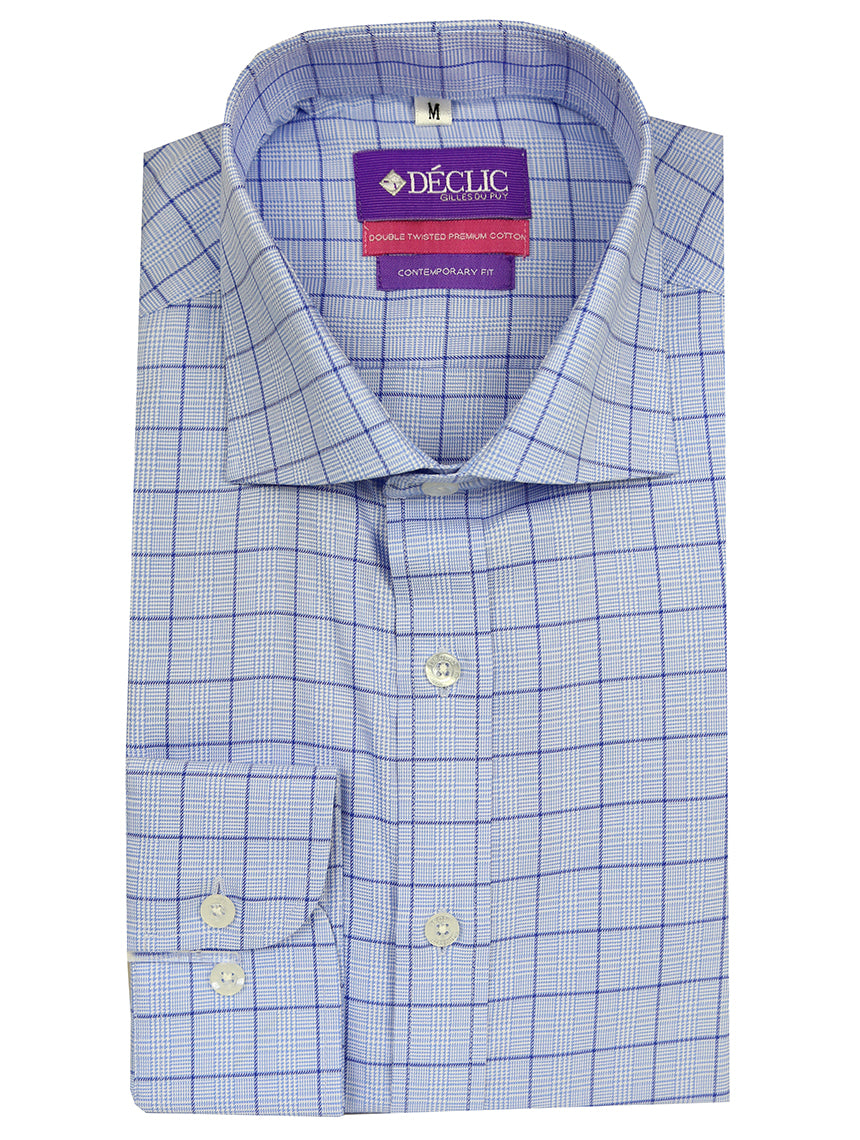 DÉCLIC Wells Check Shirt - Blue