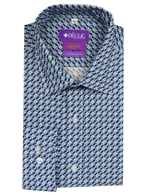Liberty Bastian Print Shirt - Blue