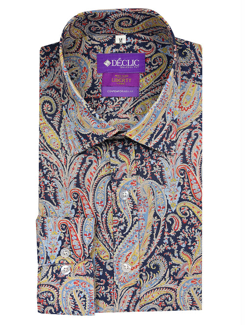 Liberty Fuzzy Paisley Print Shirt - Assorted
