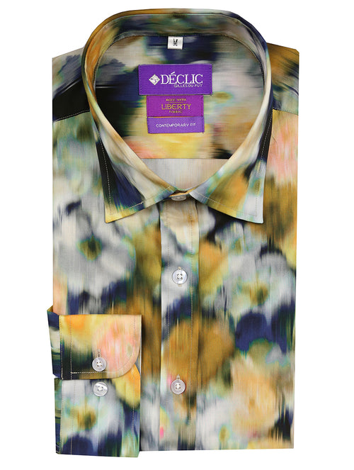 Liberty Blurred Print Shirt - Assorted